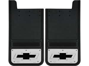 "Picture of Gatorback Mud Flaps Chevrolet Black Bowtie - 12""x23"""