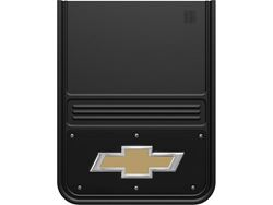 Picture of Gatorback Mud Flaps - Gold Bowtie Black Wrap - 14