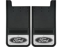 Picture of Gatorback Mud Flaps Black Ford Oval - 12