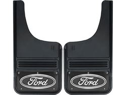 Picture of Gatorback Mud Flaps Black Ford Oval Black Wrap - 12