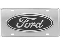 Picture of Gatorgear License Plate - Black Ford Oval