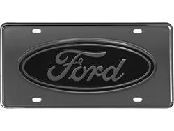 Picture of Gatorgear License Plate - Black Ford Oval - Gunmetal