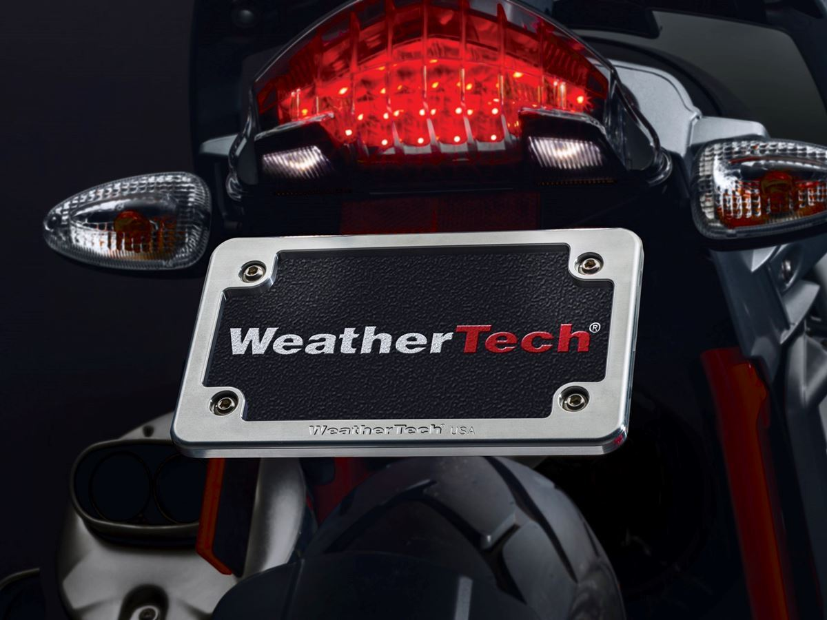 WeatherTech Billet Motorcycle License Plate Frame & DSI Automotive - WeatherTech Motorcycle Billet Plate Frame