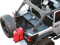 ARIES Jeep Security Cargo Lid Installed - Half Open