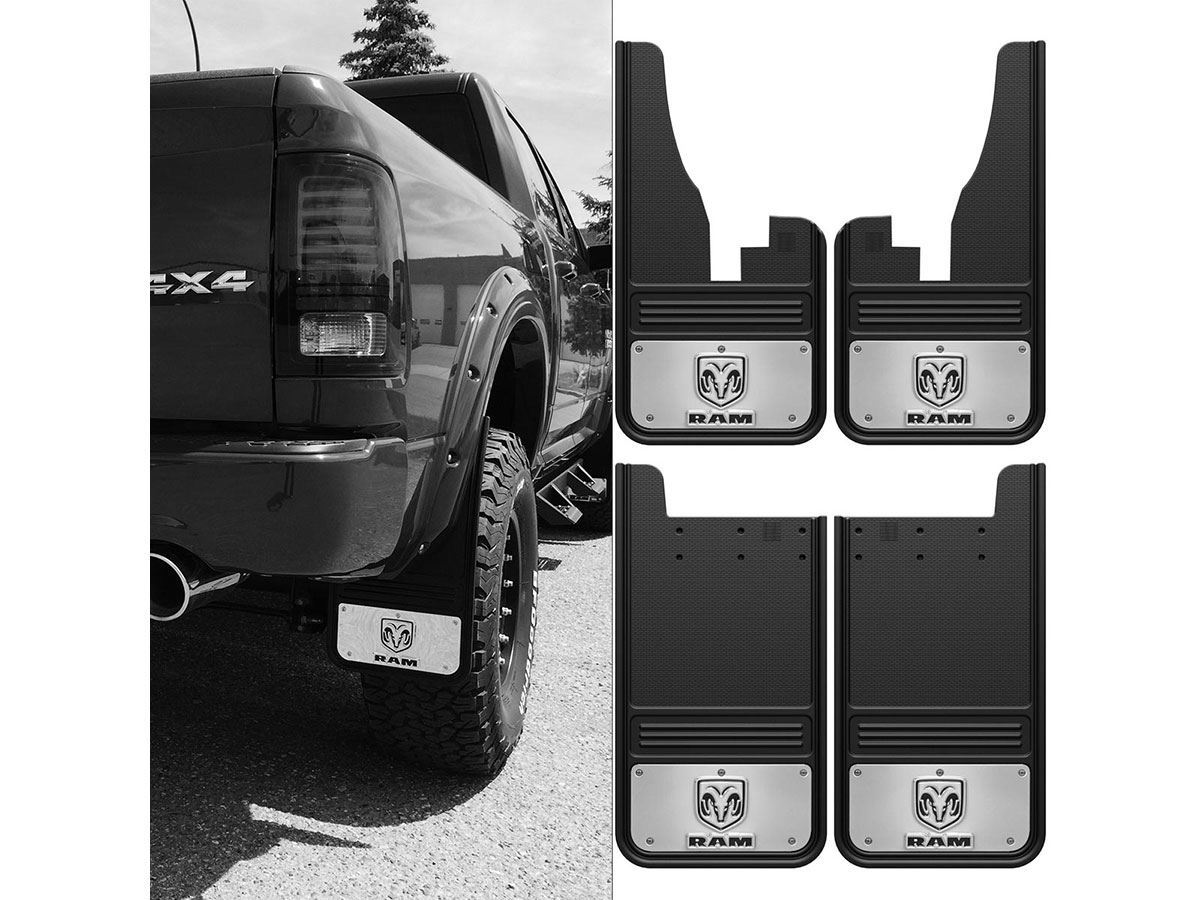 Dodge Ram Logo Gatorback Mud Flap Set on Dodge Ram 2500 Seat Covers 2017
