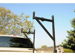 Picture of Ladder Rack - Half - Tubular Steel - Gloss Black - 250 lbs Capacity