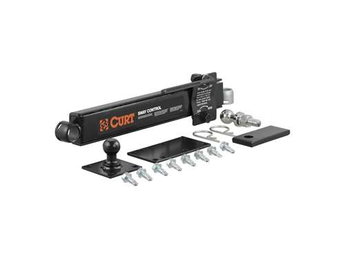 Picture of Sway Control Kit - Includes Sway Unit - Trailer Ball w/Hardware - Hitch Ball - Weld-On Tab - Reinforcement Plate - Attachment Clips