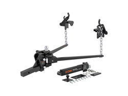 Picture of Weight Distributing Hitch Trunion Bar - 10000lbs. GTW - 1000lbs. TW - w/12 in. Hitch Bar - w/Ball Mount/Shank - Spring Bars - Brackets/Chains - 2-5/16 in. Hitch Ball - Includes Pin/Clip