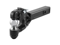 Picture of Combination Ball/Pintle Hook - 15.25in. Length - 16000lbs. Pintle Cap - 10000lbs. Ball Cap - 2 in. Chrome Ball And Pintle