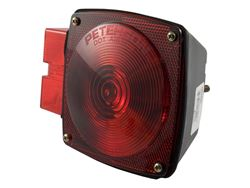 Picture of Submersible Combination Light - Red - Left Side - w/License Plate Illuminator