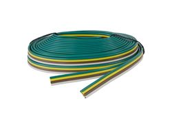 Picture of Trailer Wire - Bonded 16 Gauge 4-Wire - 25 Ft White - Brown - Yellow - Green - Packaged