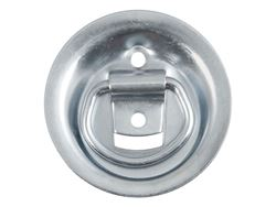 Picture of Recessed Rope Ring - Zinc Finish - 1000lbs. Capacity - 16 Ga. Steel - 1/4 Dia. D-Ring - 3.5 in. Dia.