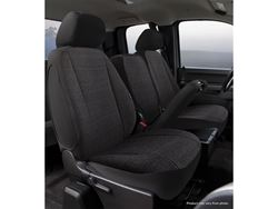 Picture of Wrangler Universal Fit Solid Seat Cover - Saddle Blanket - Black - Front - Bucket Seat - High Back