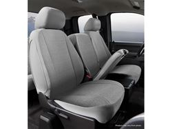 Picture of Wrangler Universal Fit Solid Seat Cover - Saddle Blanket - Gray - Front - Bucket Seat - High Back