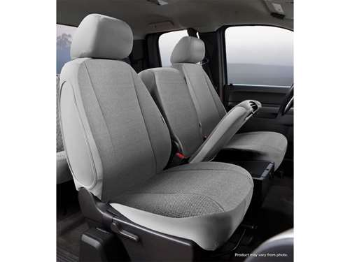 8f237745f Picture of Wrangler Universal Fit Solid Seat Cover - Saddle Blanket - Gray  - Front -