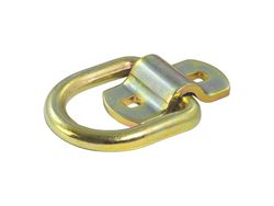 Picture of Forged D-Ring/Brackets - 1/2in. D-Ring - w/Bracket - 11000 lbs Capacity - 2.5in. x 2 3/8in. ID - Yellow Zinc Finish