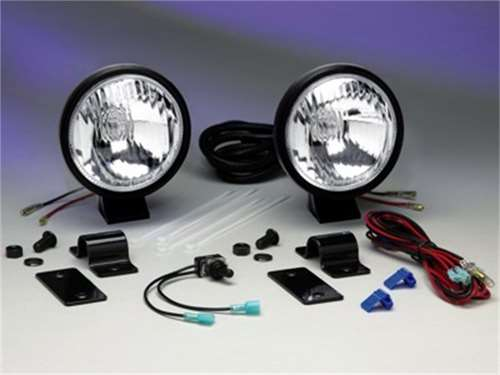 "Picture of ATV Series Driving Light - 5"" Round - Clear Lens - Polymax Pro Housing - 55 Watts - Incl. Mounting Brackets - Pair Of Lights"
