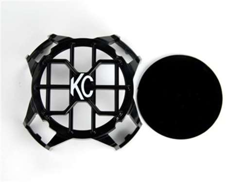 """Picture of KC LZR Series Stoneguard LED Headlight Guard - 4"""" Round - Black - Single"""