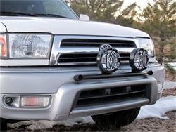 Picture of Universal Mount Light Bar - 2 Tab - Black Powdercoated Steel Tubing