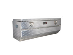 Picture of HDX Series Chestbox Tool Box - Polished Aluminum - Slanted Front