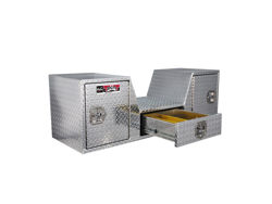 Picture of Brute Pro Series Goose Neck Tailgate Tool Box - Polished Aluminum