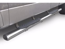 Go Rhino 4 in. 1000 Series Cab Length Oval Step Bars - Polished Stainless Steel
