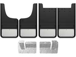 Chevy Silverado Stainless Steel Plate Gatorback Mud Flap Set