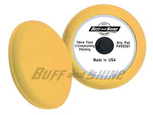 "Picture of 9"" Center Tee Foam Pad - Yellow"