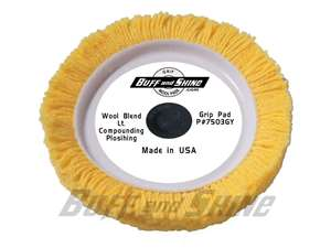"Picture of 7 1/2""Center Tee Wool Blend Pad - Yellow"
