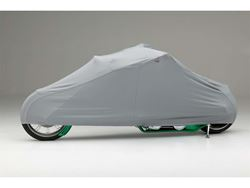 Picture of Form-Fit Motorcycle Cover - Silver Gray - Chopper Motorcycle - w/Backrest and w/o Sissy Bar - Custom to 10 ft. Overall Length