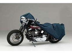 Picture of Form-Fit Motorcycle Cover - Dark Blue - Large Cruiser - w/or w/o Faring/Windshield/Saddle Bags/Backrest/Sissy Bar