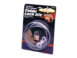 Picture of Car Cover Cable Lock Kit - Coated Steel Cable - w/Brass Lock