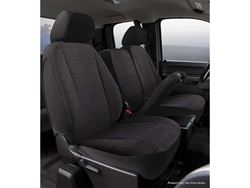 Picture of Wrangler Semi-Custom Solid Seat Cover - Black - Front - Bucket Seats - Adjustable Headrests