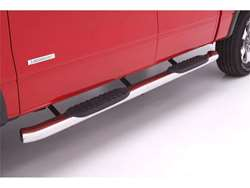 Lund 5 Inch Oval Curved Tube Step - Cab Length