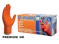 Ammex Orange Nitrile Gloves