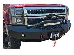 Iron Cross Front Bumper with Push Bar