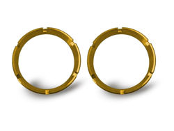 Picture of Flex Bezel Ring - Gold - Pair