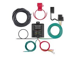 Picture of Powered 3-To-2-Wire Taillight Converter - Potted - Incl. Trailer Wiring Kit PN[55151] - 4-Way Flat - Tail Light Circuit 6.0 Amps - Turn and Brake Circuit 3.0 Amps