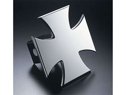 Picture of Trailer Hitch Cover - Iron Cross - Aluminum - Polished