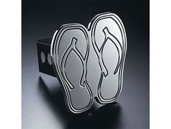 Picture of Trailer Hitch Cover - Hula Flops - Aluminum - Polished