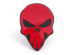Picture of Trailer Hitch Cover - Red On Black - 2 in. - Skull Style