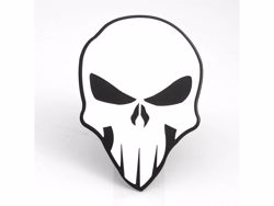 Picture of Trailer Hitch Cover - White On Black - 2 in. - Skull Style