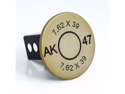 Picture of Trailer Hitch Cover - Gold - 2 in. - AK-47 7.62