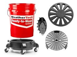 Ready To Wash System - Rolling Dolly - Bucket w/Vented Lid Seat - Grit Grate - Mitt Saver