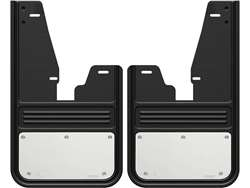 Gatorback RAM Stainless Steel Plate No Drill Front Mud Flaps - with OEM Fender Flares