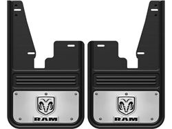 Gatorback RAM Ramhead Logo No Drill Front Mud Flaps - without OEM fender flares