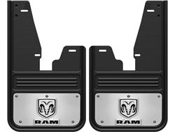 Gatorback RAM Ramhead Logo No Drill Front Mud Flaps - with OEM Fender Flares