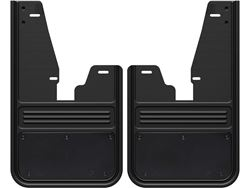 Gatorback RAM Black Powder Coated Plate No Drill Front Mud Flaps - with OEM Fender Flares