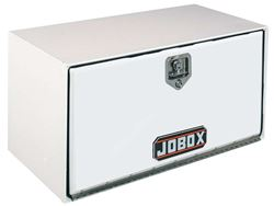 JOBOX White Steel Pan-Door Underbed Truck Box 36