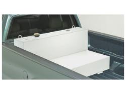 JOBOX 100 Gallon White L-Shaped Steel Liquid Transfer Tank for Trucks